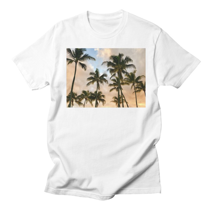 Hawaiian Palms Men's T-Shirt by rubberdanpants