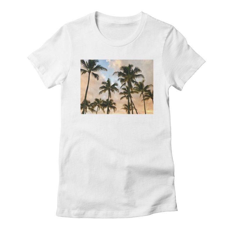 Hawaiian Palms Women's T-Shirt by rubberdanpants