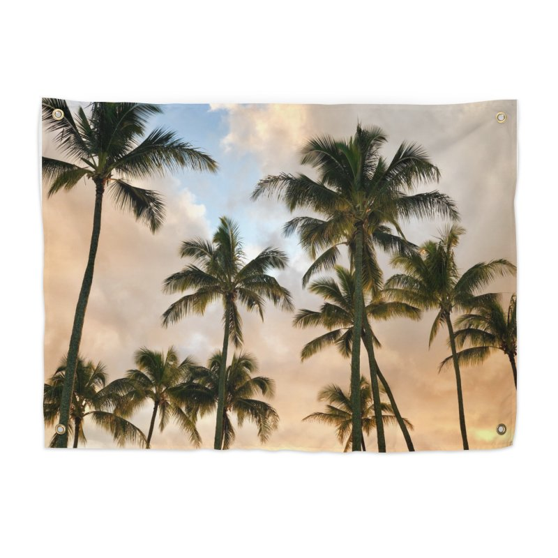 Hawaiian Palms Home Tapestry by rubberdanpants