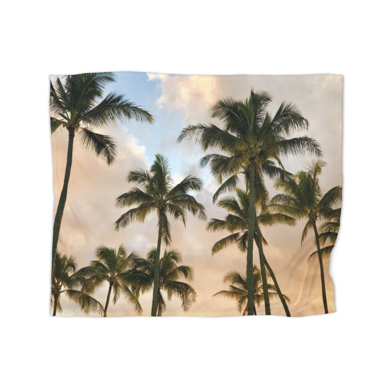 Hawaiian Palms Home Blanket by rubberdanpants