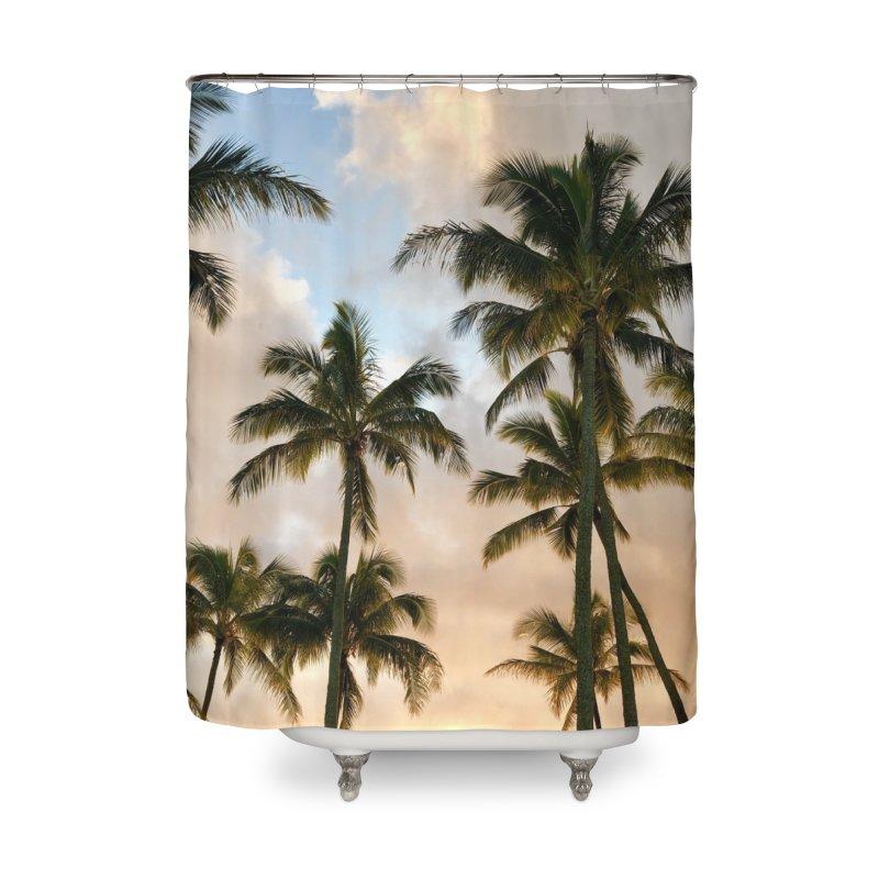 Hawaiian Palms Home Shower Curtain by rubberdanpants