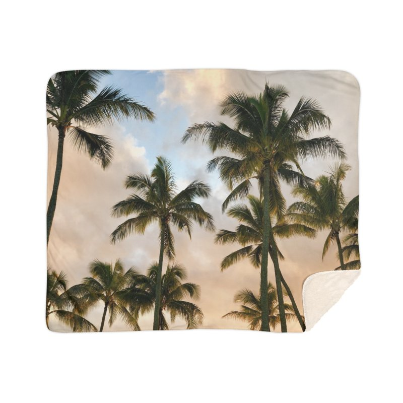 Hawaiian Palms Home Blanket by rubberdanpants