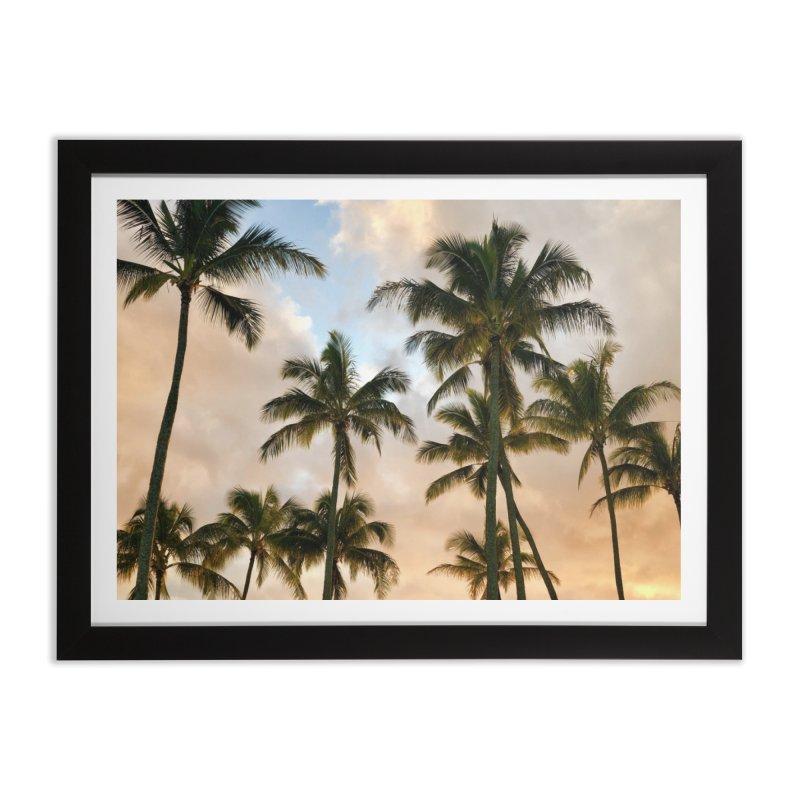 Hawaiian Palms Home Framed Fine Art Print by rubberdanpants