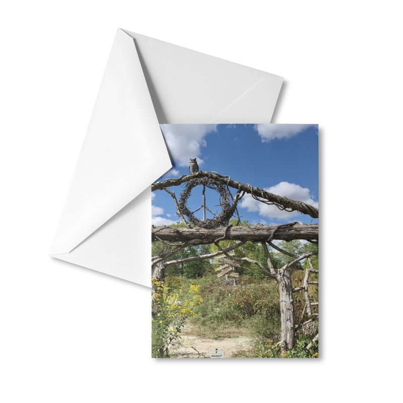 Walking Trail Accessories Greeting Card by rubberdanpants