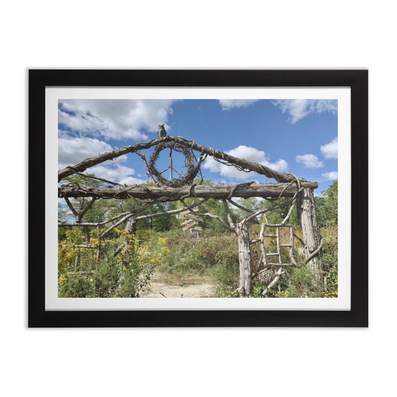 Walking Trail Home Framed Fine Art Print by rubberdanpants