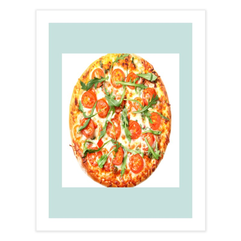 Pizza Shirt Home Fine Art Print by rubberdanpants