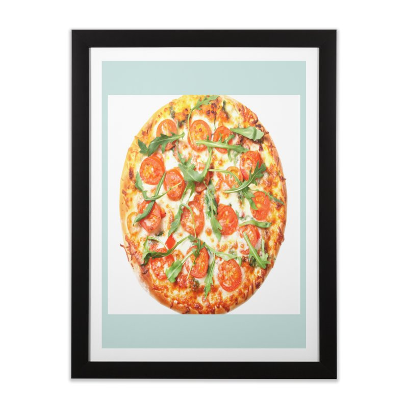 Pizza Shirt Home Framed Fine Art Print by rubberdanpants