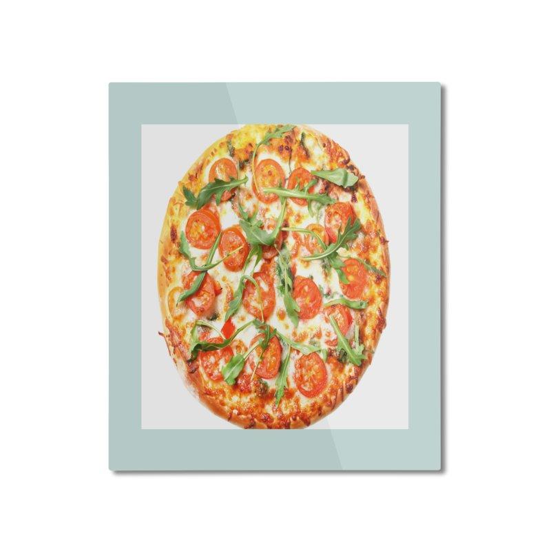 Pizza Shirt Home Mounted Aluminum Print by rubberdanpants