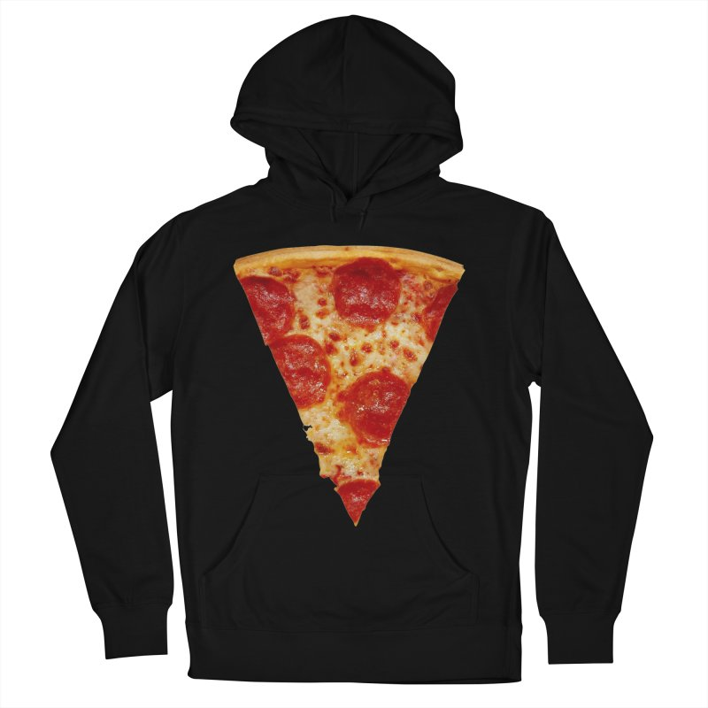 Pizza Shirt Men's French Terry Pullover Hoody by rubberdanpants