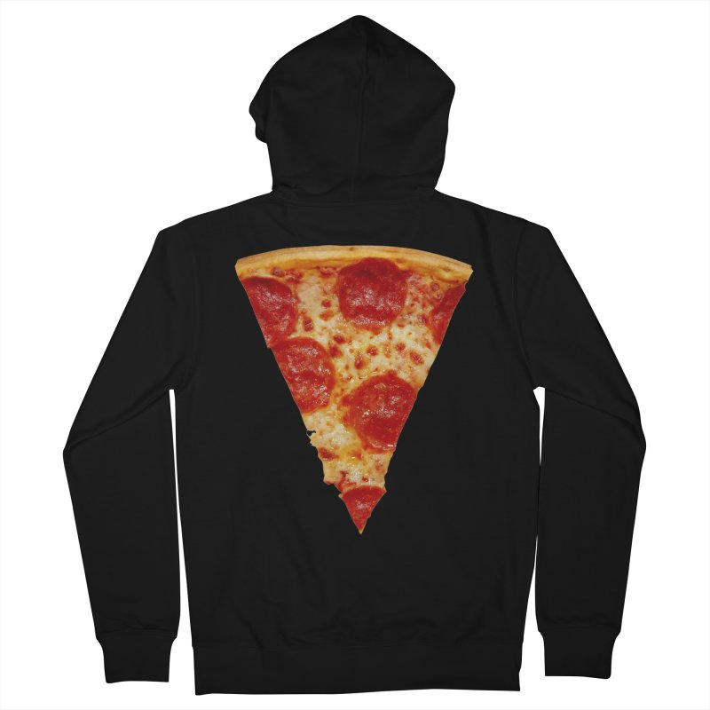Pizza Shirt Men's French Terry Zip-Up Hoody by rubberdanpants