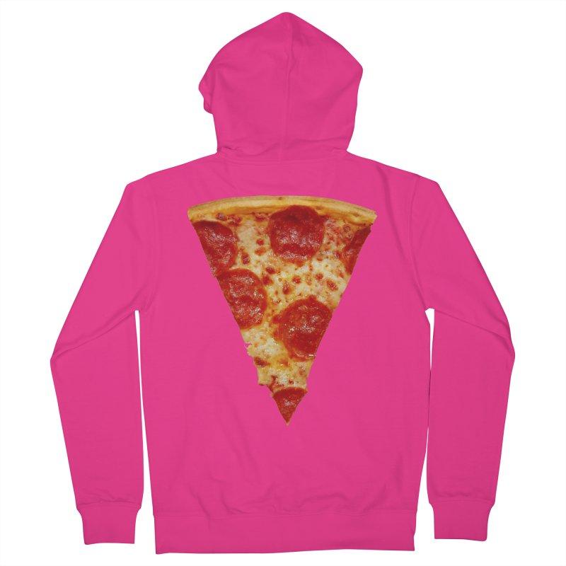 Pizza Shirt Men's French Terry Zip-Up Hoody by rubberdanpants