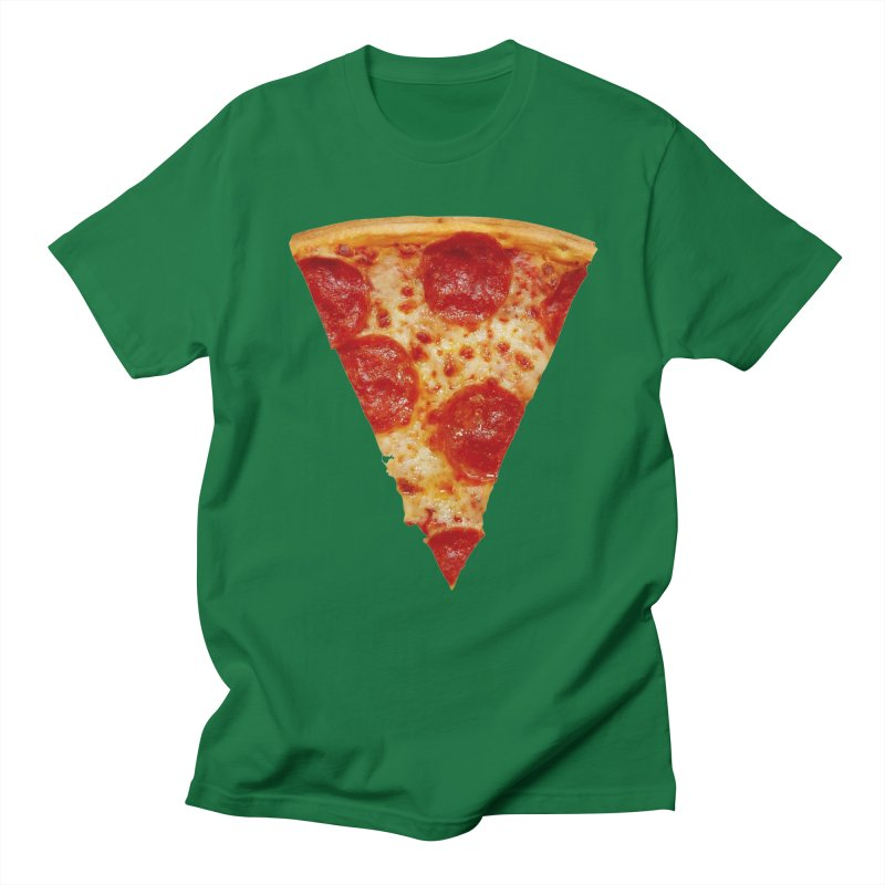Pizza Shirt Men's Regular T-Shirt by rubberdanpants