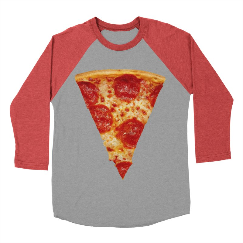 Pizza Shirt Men's Baseball Triblend Longsleeve T-Shirt by rubberdanpants