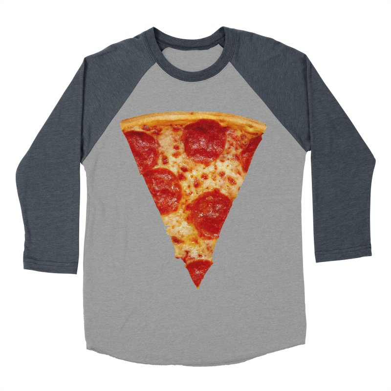 Pizza Shirt Men's Baseball Triblend T-Shirt by rubberdanpants
