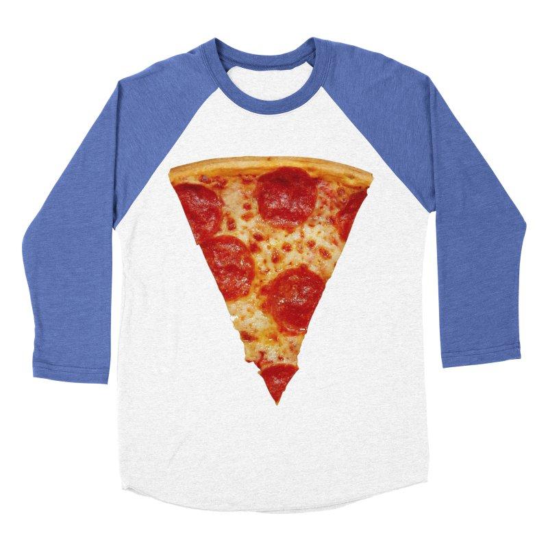 Pizza Shirt Men's Baseball Triblend Longsleeve T-Shirt by rubberdanpants