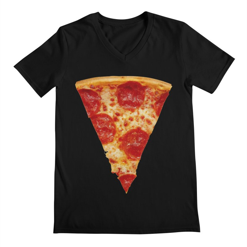 Pizza Shirt Men's V-Neck by rubberdanpants
