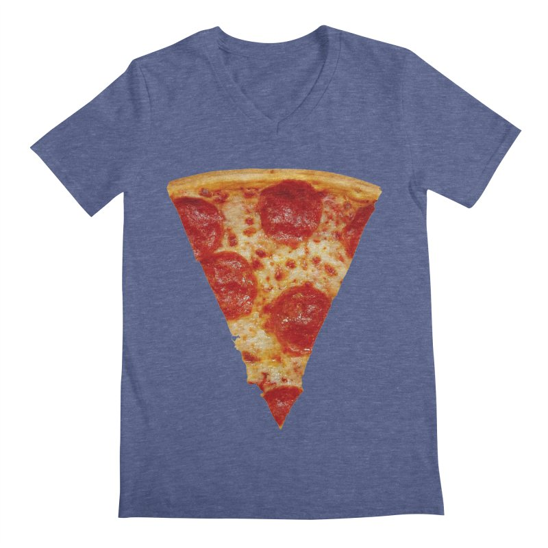 Pizza Shirt Men's Regular V-Neck by rubberdanpants