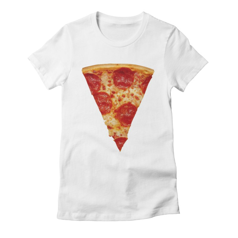Pizza Shirt Women's Fitted T-Shirt by rubberdanpants