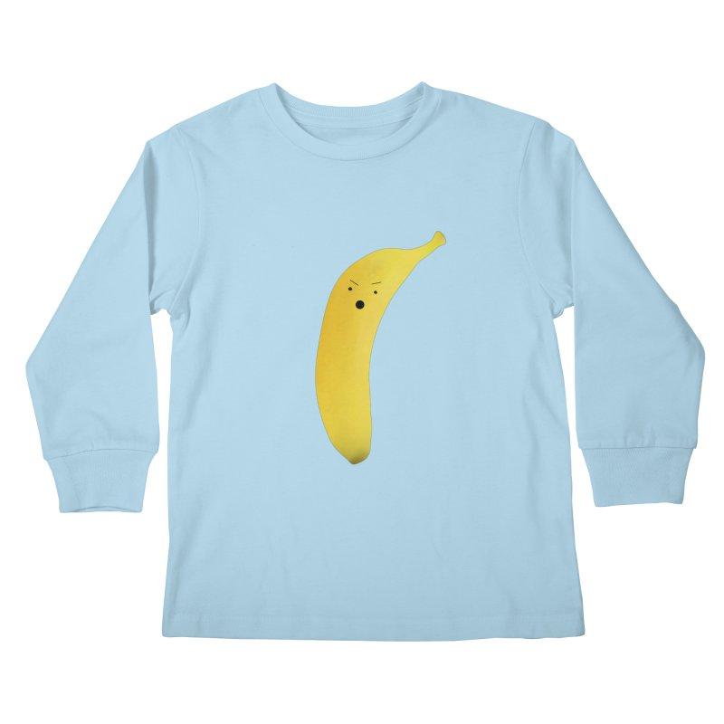 Banana Night Kids Longsleeve T-Shirt by rubberdanpants