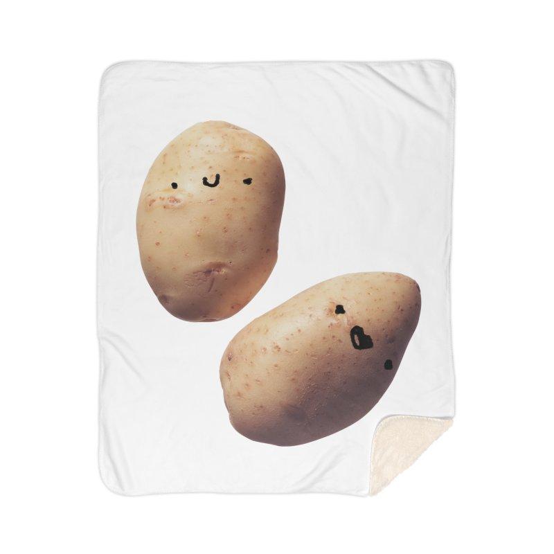 Oh Potatoes Home Sherpa Blanket Blanket by rubberdanpants