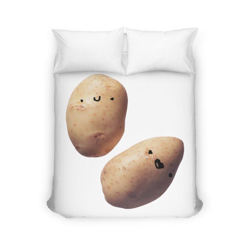 Oh Potatoes Home Duvet by rubberdanpants