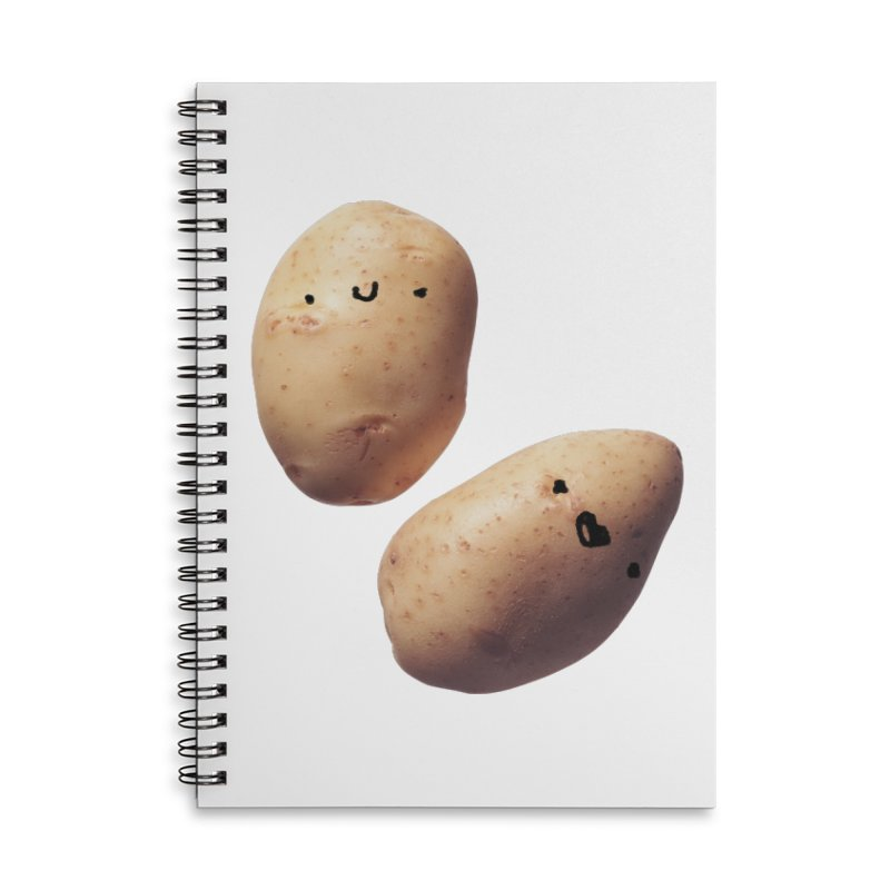 Oh Potatoes Accessories Lined Spiral Notebook by rubberdanpants
