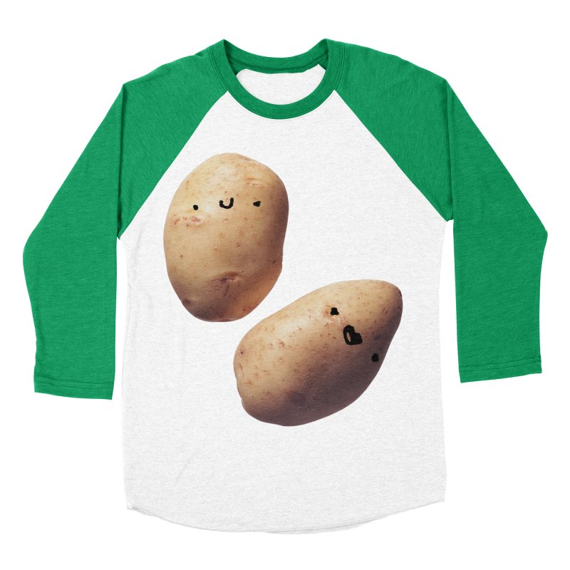 Oh Potatoes Men's Baseball Triblend T-Shirt by rubberdanpants