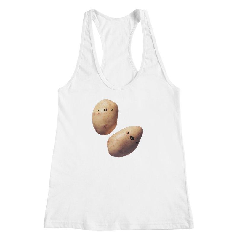 Oh Potatoes Women's Racerback Tank by rubberdanpants