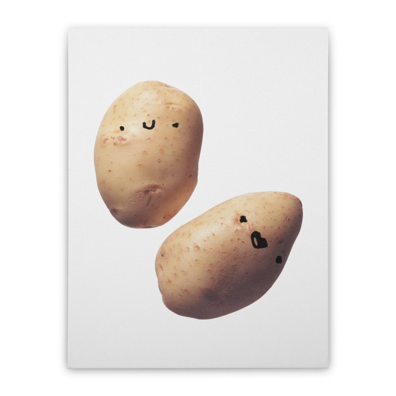 Oh Potatoes Home Stretched Canvas by rubberdanpants