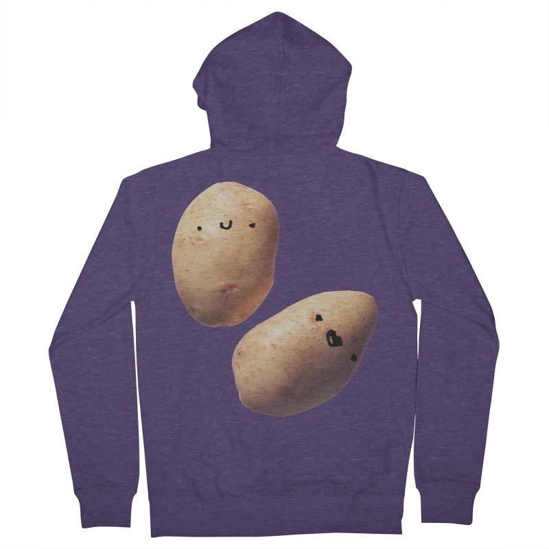 Oh Potatoes Men's Zip-Up Hoody by rubberdanpants