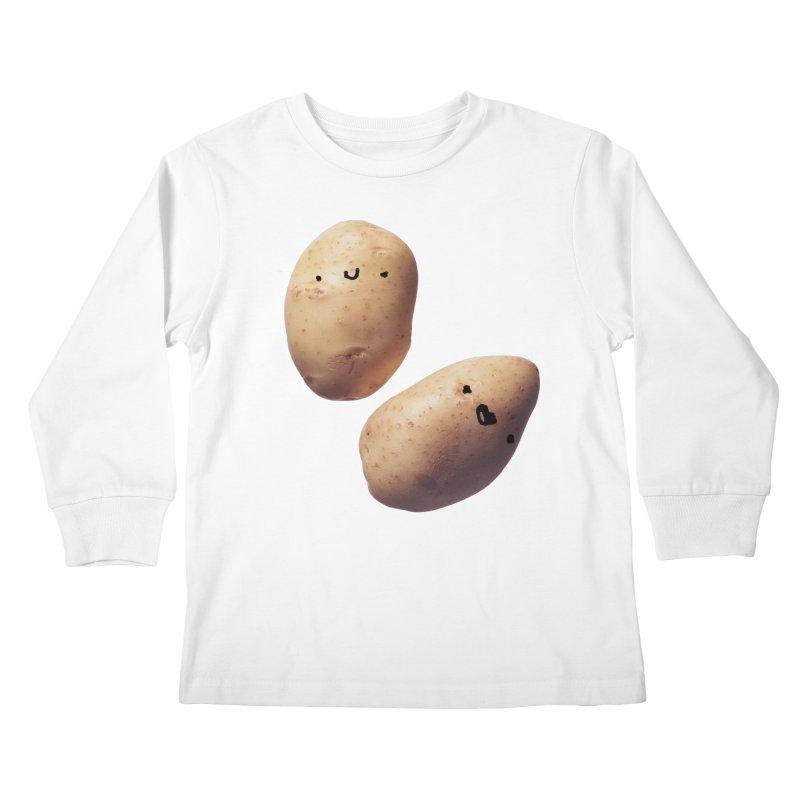 Oh Potatoes Kids Longsleeve T-Shirt by rubberdanpants