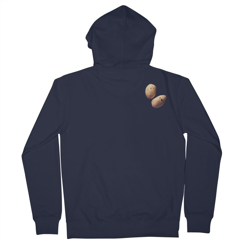 Oh Potatoes Men's French Terry Zip-Up Hoody by rubberdanpants