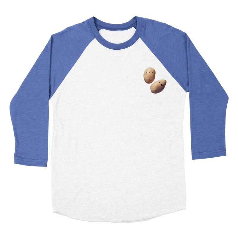 Oh Potatoes Men's Baseball Triblend Longsleeve T-Shirt by rubberdanpants