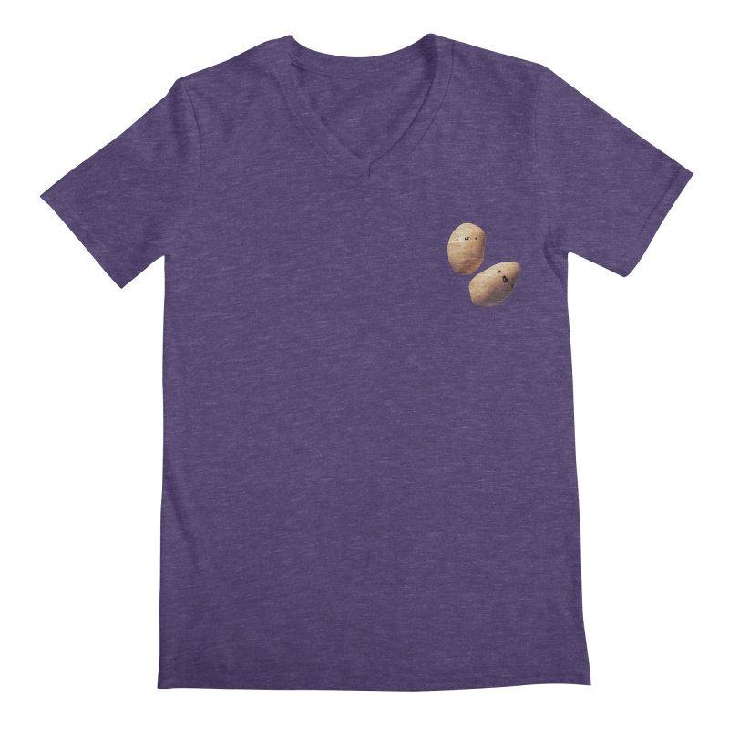 Oh Potatoes Men's Regular V-Neck by rubberdanpants