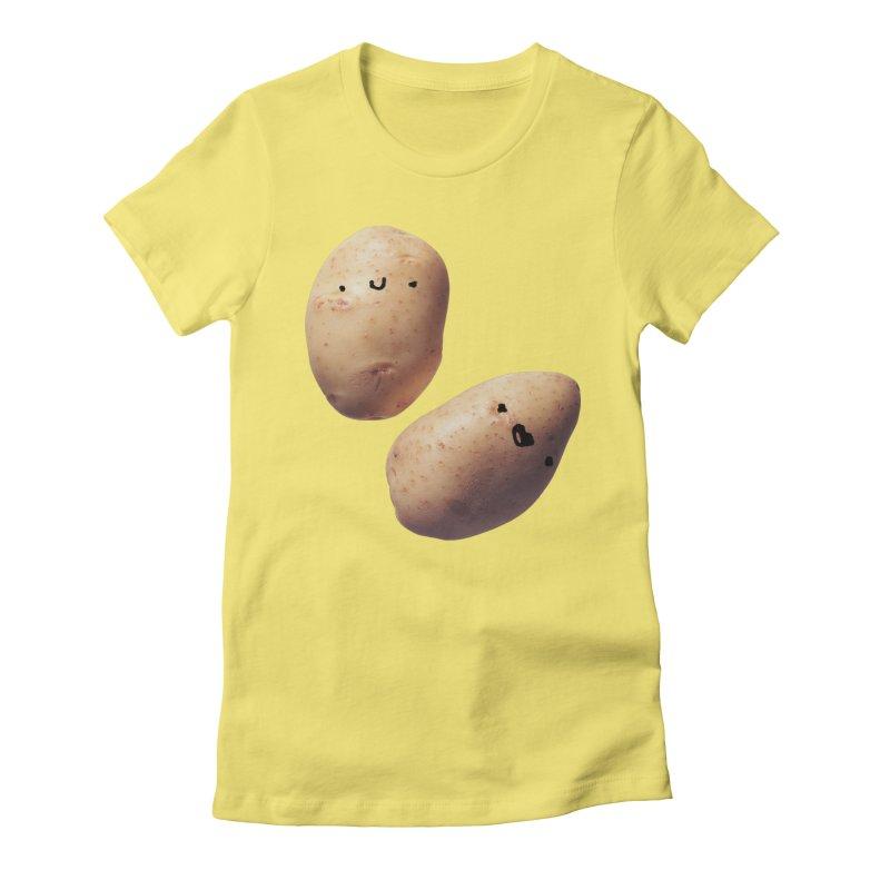 Oh Potatoes Women's Fitted T-Shirt by rubberdanpants