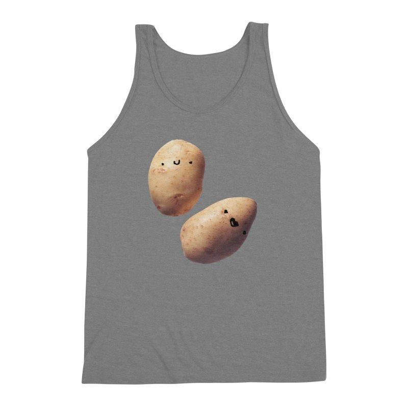 Oh Potatoes Men's Triblend Tank by rubberdanpants