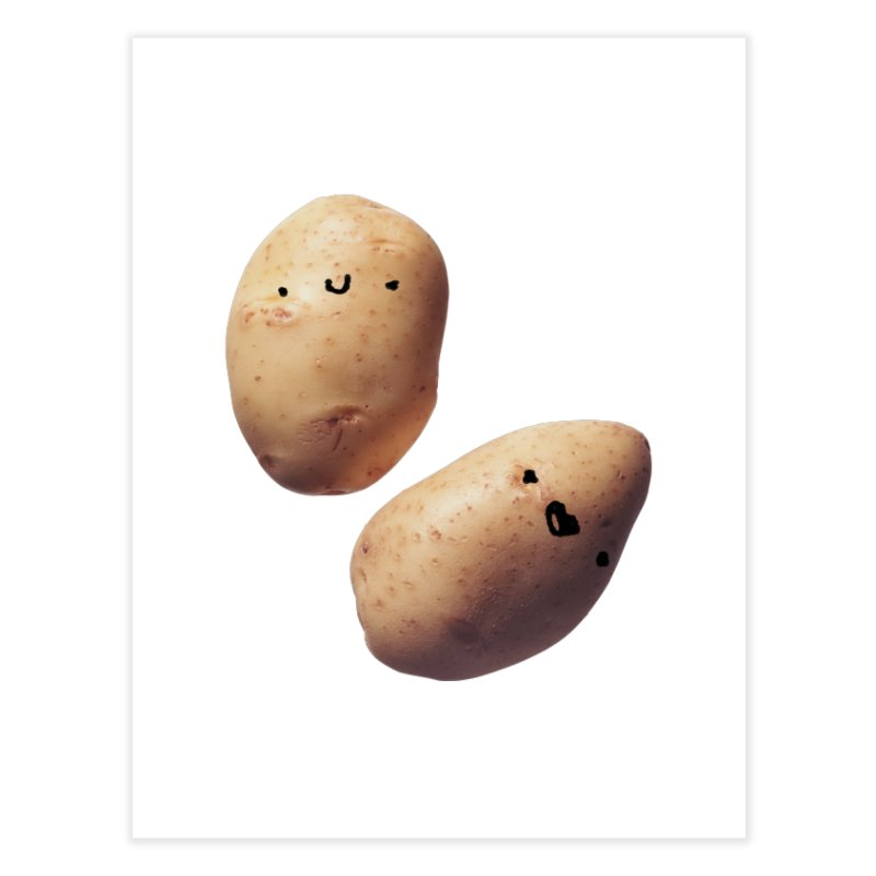 Oh Potatoes Home Fine Art Print by rubberdanpants
