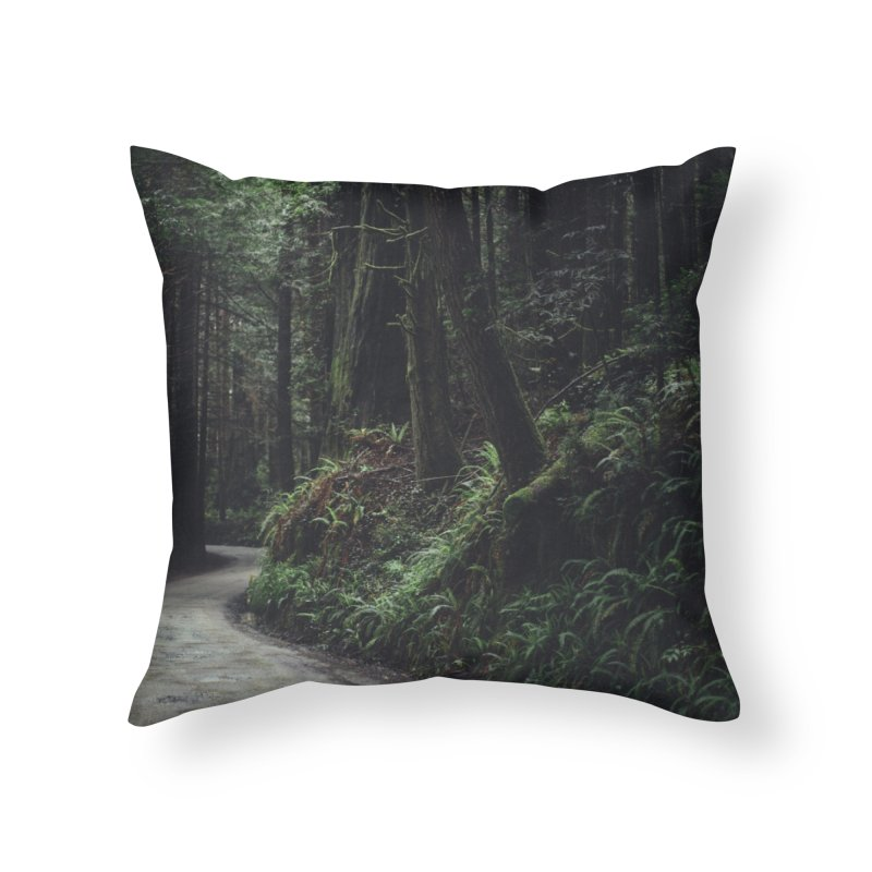 Redwoods Home Throw Pillow by rubberdanpants