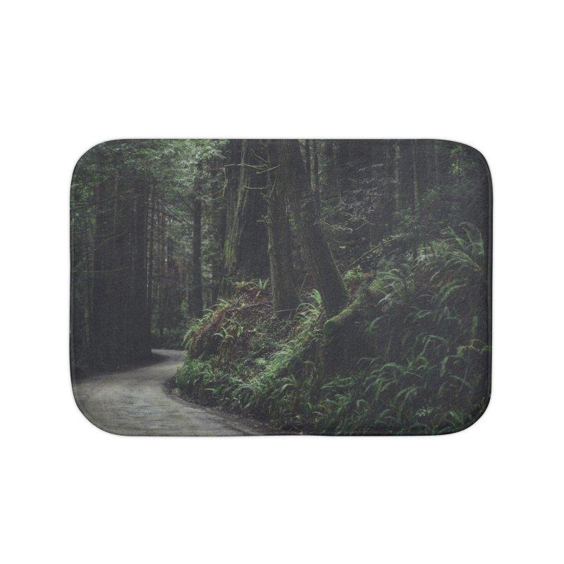 Redwoods Art Prints Bath Mat by rubberdanpants