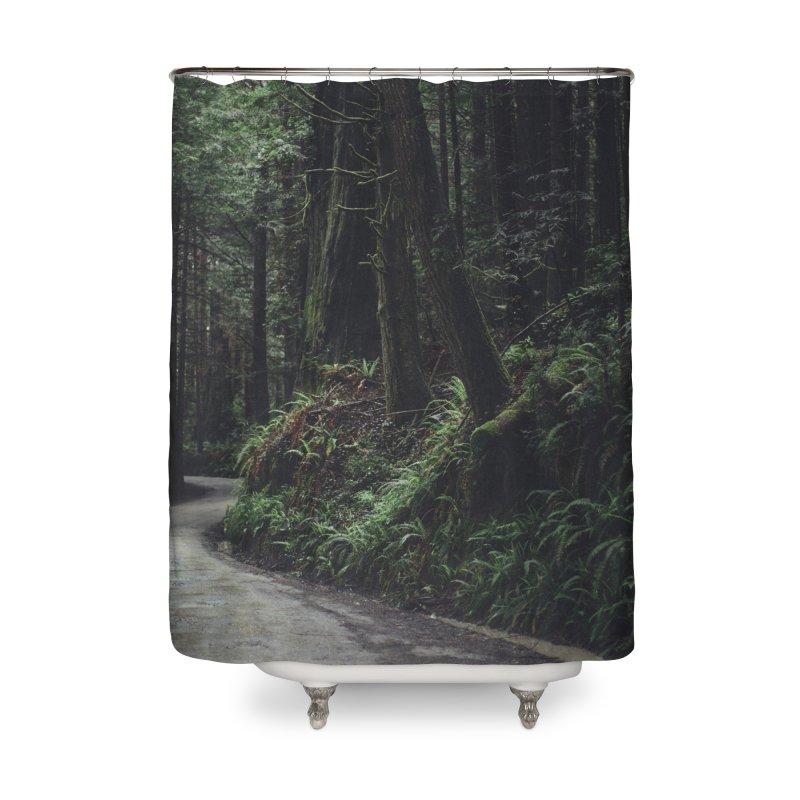 Redwoods Art Prints Shower Curtain by rubberdanpants