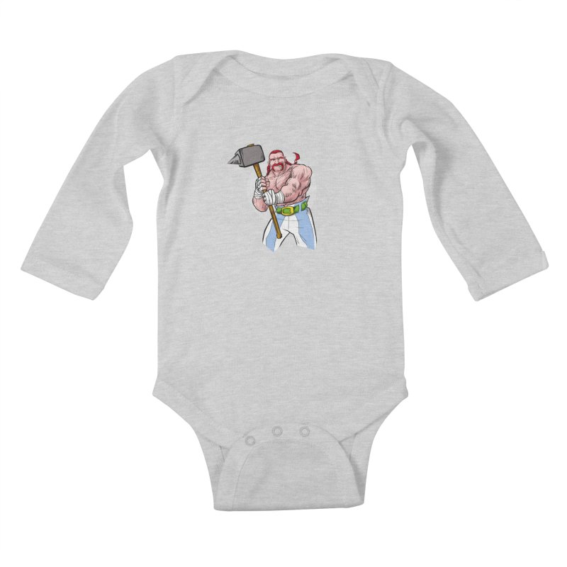 Ready 2 Rumble Kids Baby Longsleeve Bodysuit by rubioric's Artist Shop