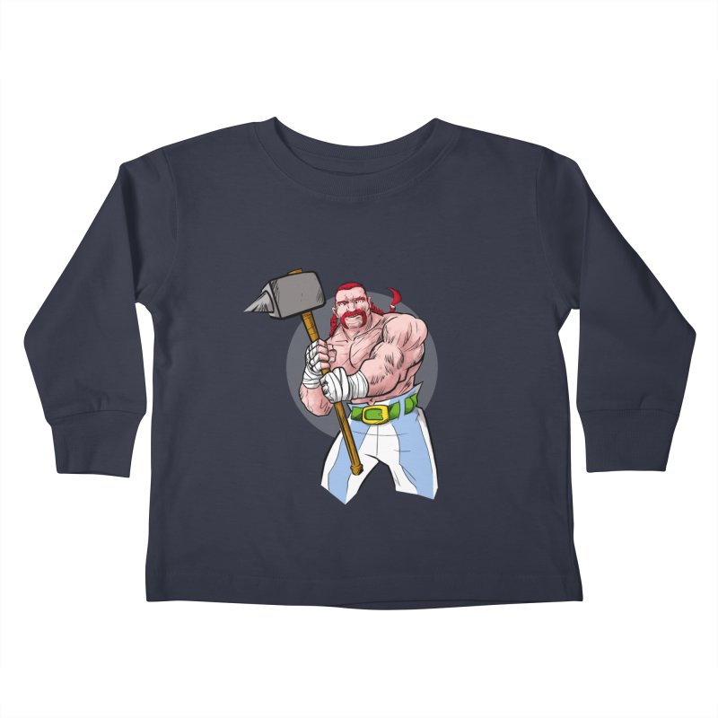 Ready 2 Rumble Kids Toddler Longsleeve T-Shirt by rubioric's Artist Shop
