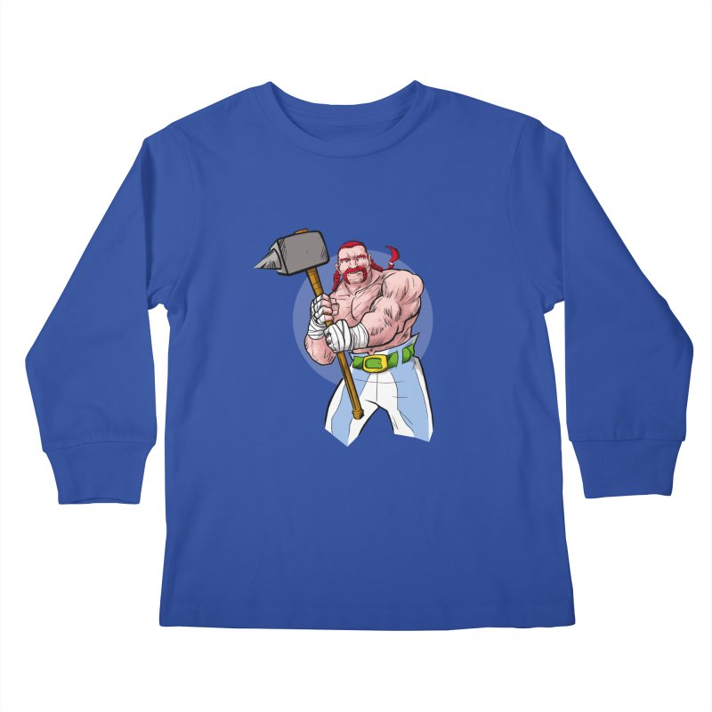 Ready 2 Rumble Kids Longsleeve T-Shirt by rubioric's Artist Shop