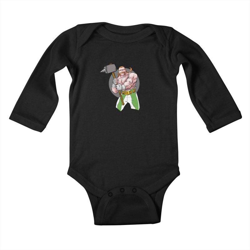 Celtic Warrior Kids Baby Longsleeve Bodysuit by rubioric's Artist Shop