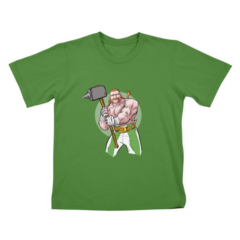 Celtic Warrior Kids T-Shirt by rubioric's Artist Shop