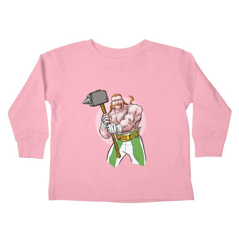 Celtic Warrior Kids Toddler Longsleeve T-Shirt by rubioric's Artist Shop