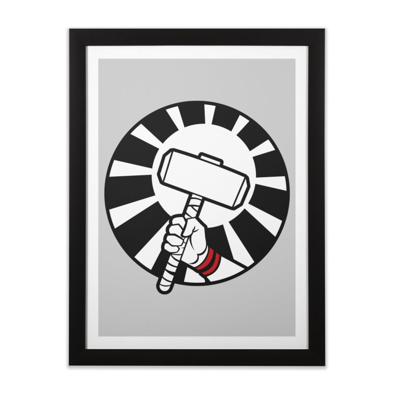 Beware my Aesir Power! Home Framed Fine Art Print by rubioric's Artist Shop