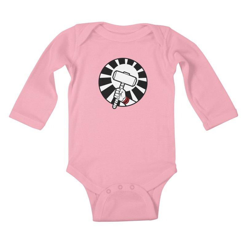 Beware my Aesir Power! Kids Baby Longsleeve Bodysuit by rubioric's Artist Shop