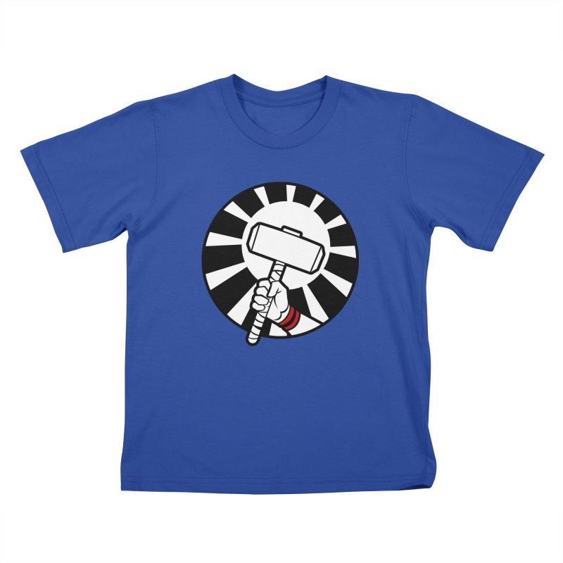 Beware my Aesir Power! Kids T-shirt by rubioric's Artist Shop