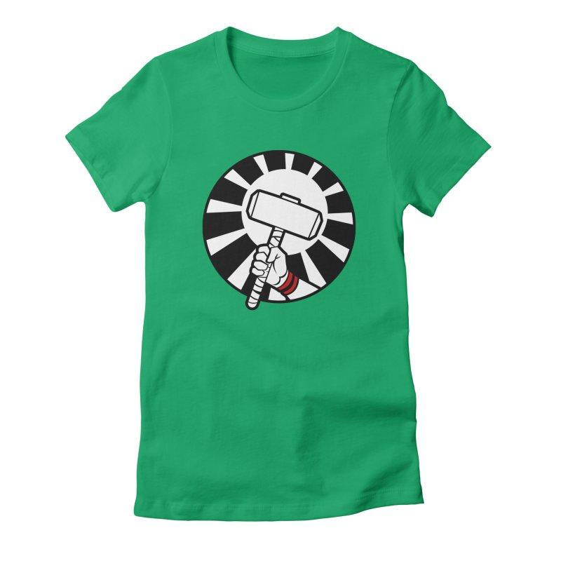 Beware my Aesir Power! Women's Fitted T-Shirt by rubioric's Artist Shop